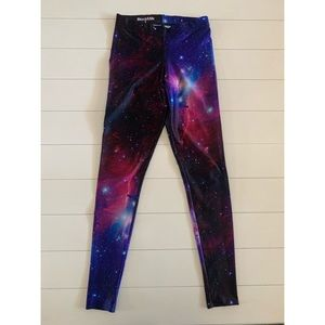 BlackMilk Galaxy Purple Leggings